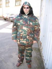 Костюм утепленный «Охотник» (куртка с капюшоном брюки на шлейках)